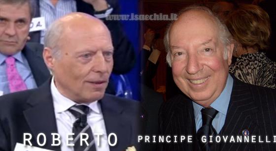 Somiglianza tra il cavaliere Roberto e il principe Giovannelli
