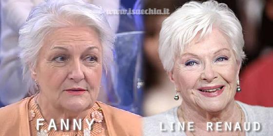 Somiglianza tra la dama Fanny e Line Renaud