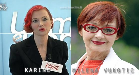 Somiglianza tra la dama Karine e Milena Vukotic
