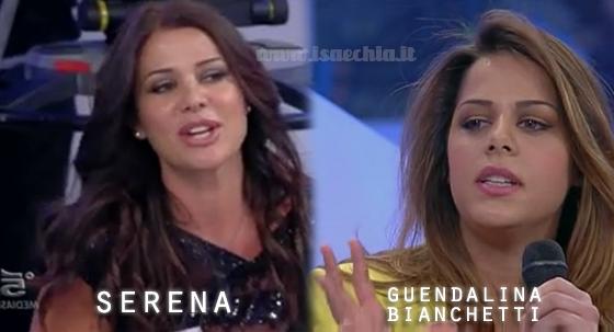 Somiglianza tra la dama Serena e Guendalina Bianchetti