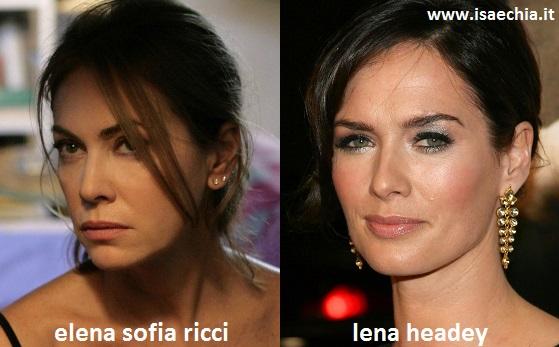 Somiglianza tra Elena Sofia Ricci e Lena Headey