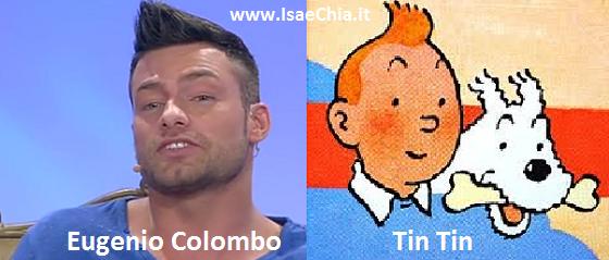 Somiglianza tra Eugenio Colombo e Tintin