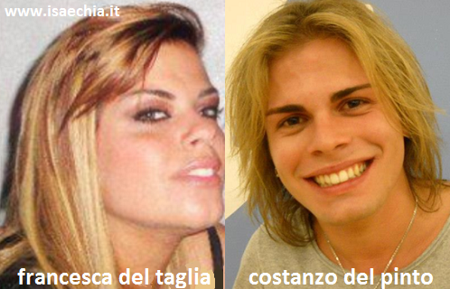 Somiglianza tra Francesca Del Taglia e Costanzo Del Pinto