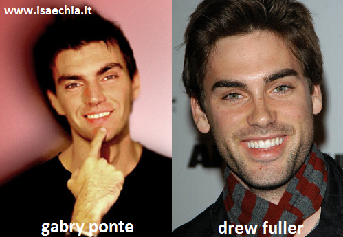 Somiglianza tra Gabry Ponte e Drew Fuller