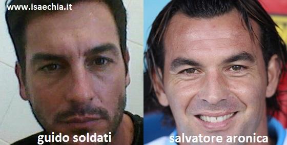 Somiglianza tra Guido Soldati e Salvatore Aronica