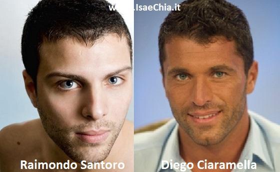 Somiglianza tra Raimondo Santoro e Diego Ciaramella