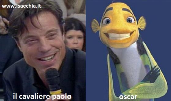 Somiglianza tra il cavaliere Paolo e Oscar di 'Shark Tale'