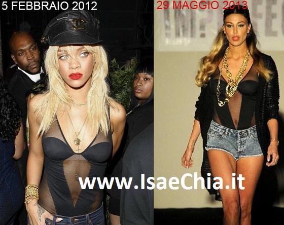 Belen Rodriguez copia Rihanna