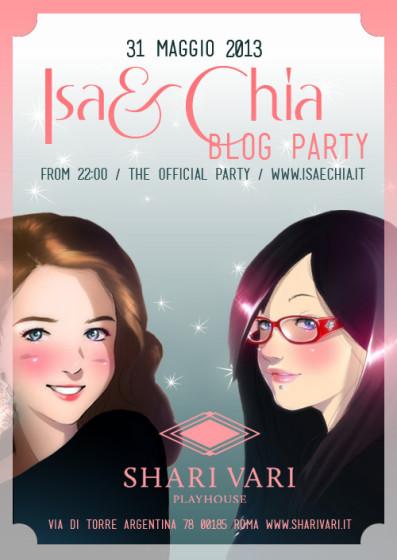 Locandina Isa e Chia Blog Party 2013