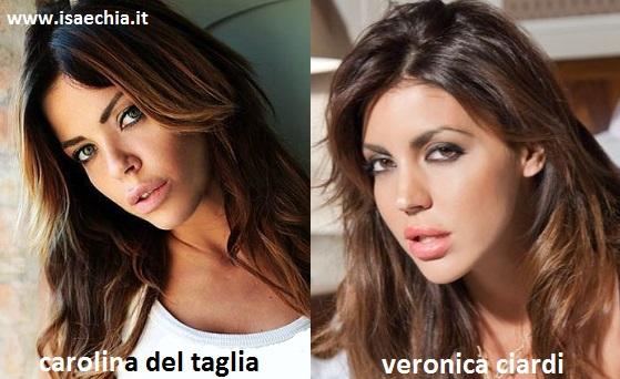 Somiglianza tra Carolina Del Taglia e Veronica Ciardi