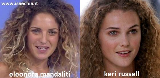 Somiglianza tra Eleonora Mandaliti e Keri Russell