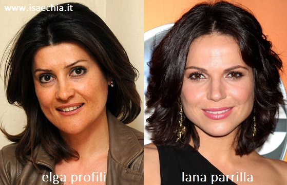 Somiglianza tra Elga Profili e Lana Parrilla