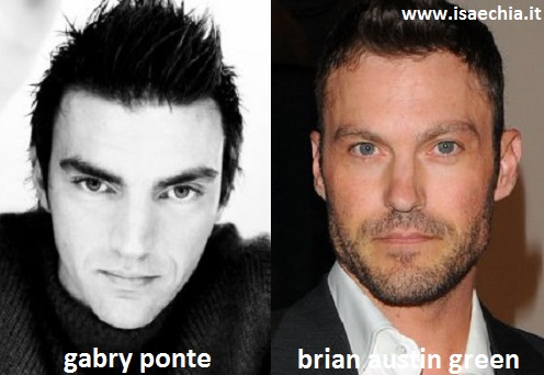 Somiglianza tra Gabry Ponte e Brian Austin Green