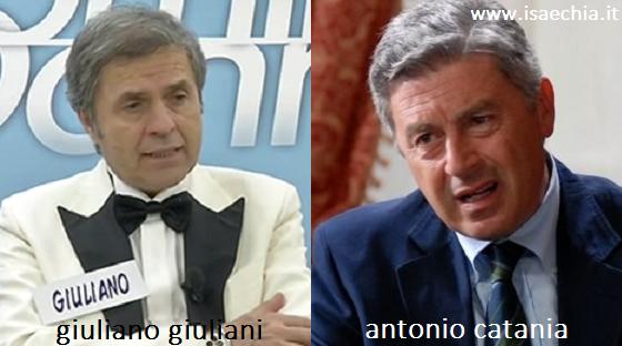 Somiglianza tra Giuliano Giuliani e Antonio Catania