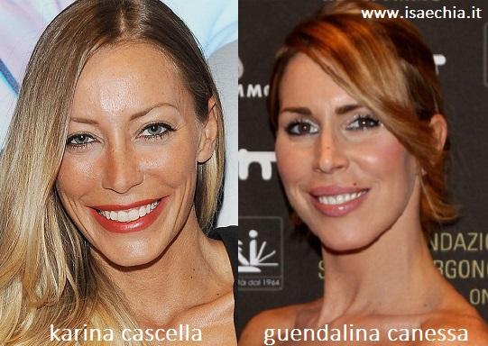 Somiglianza tra Karina Cascella e Guendalina Canessa