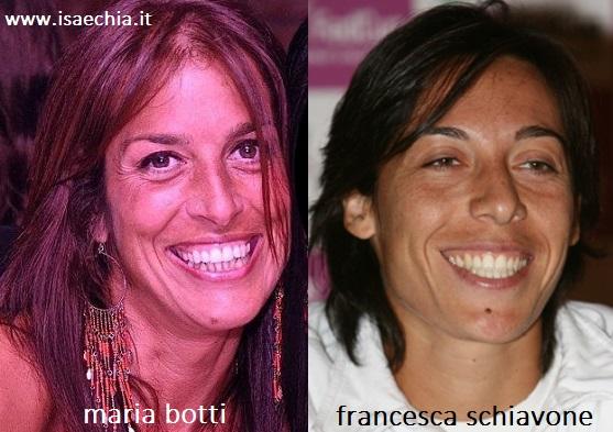 Somiglianza tra Maria Botti e Francesca Schiavone