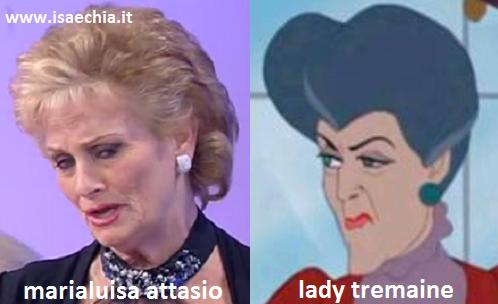 Somiglianza tra Marialuisa Attasio e Lady Tremaine