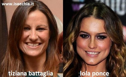 Somiglianza tra Tiziana Battaglia e Lola Ponce