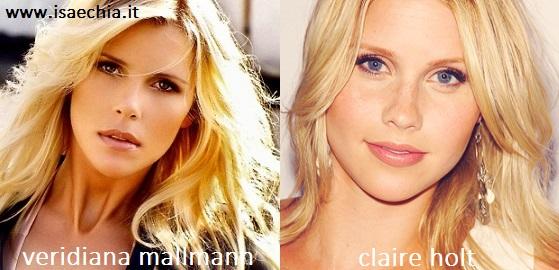 Somiglianza tra Veridiana Mallmann e Claire Holt
