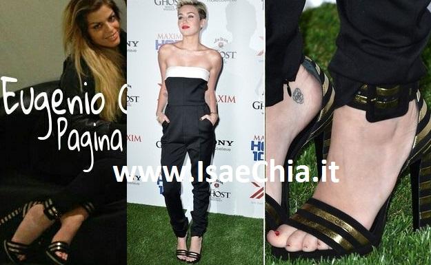 Stesse scarpe per Francesca Del Taglia e Miley Cyrus
