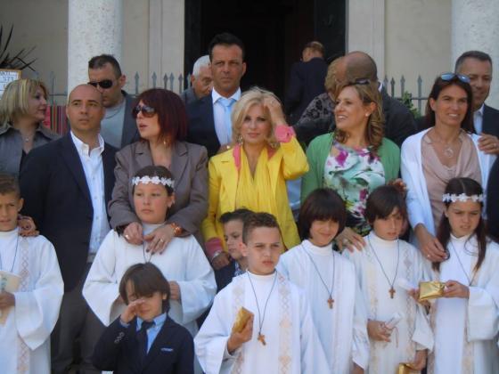 Tina Cipollari e Chicco Nalli con Mattias