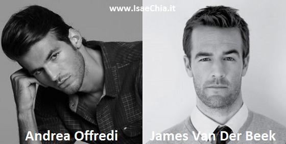 Somiglianza tra Andrea Offredi e James Van Der Beek