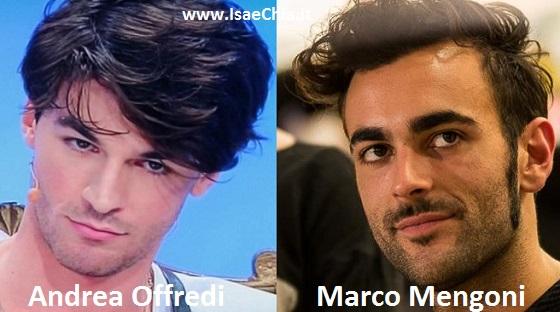 Somiglianza tra Andrea Offredi e Marco Mengoni