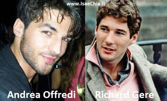 Somiglianza tra Andrea Offredi e Richard Gere