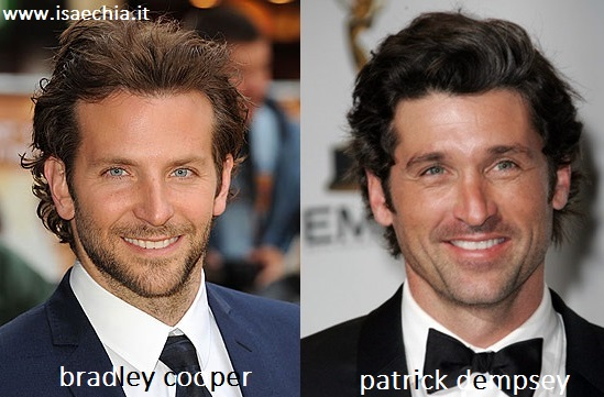 Somiglianza tra Bradley Cooper e Patrick Dempsey