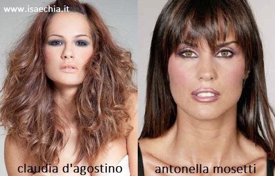 Somiglianza tra Claudia D'Agostino e Antonella Mosetti