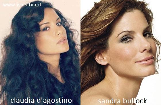 Somiglianza tra Claudia D'Agostino e Sandra Bullock