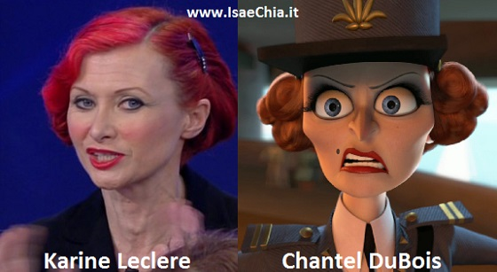 Somiglianza tra Karine Leclere e Chantel DuBois