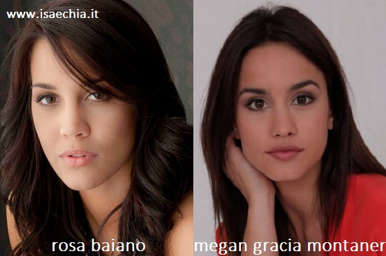 Somiglianza tra Rosa Baiano e Megan Gracia Montaner