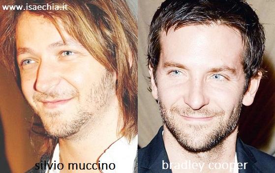 Somiglianza tra Silvio Muccino e Bradley Cooper