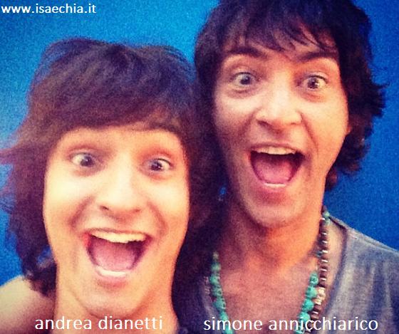 Somiglianza tra Andrea Dianetti e Simone Annicchiarico