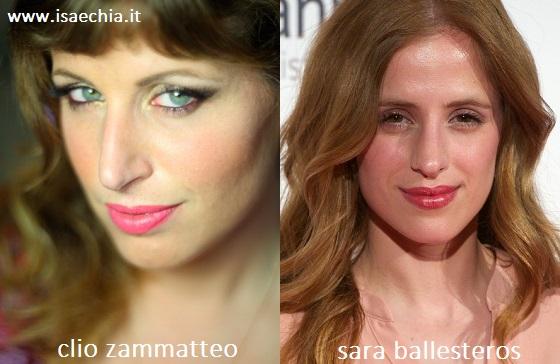 Somiglianza tra Clio Zammatteo e Sara Ballesteros
