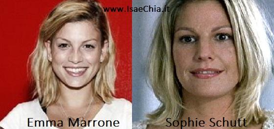 Somiglianza tra Emma Marrone e Sophie Schutt