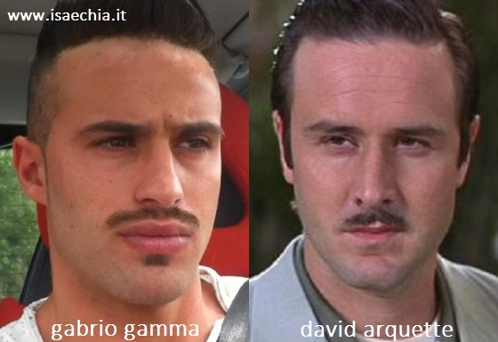 Somiglianza tra Gabrio Gamma e David Arquette