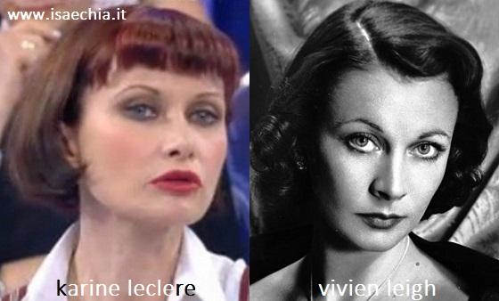 Somiglianza tra Karine Leclere e Vivien Leigh