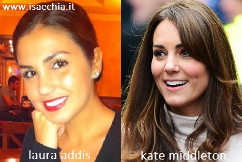 Somiglianza tra Laura Addis e Kate Middleton