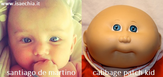 Somiglianza tra Santiago De Martino e Cabbage Patch Kid