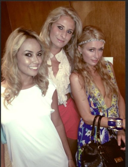 Angela Achilli, Luz Sarcinelli e Paris Hilton