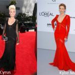 Miley Cyrus e Kylie Minogue in Emilio Pucci