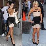 Rihanna e Paris Hilton in Alexander Wang