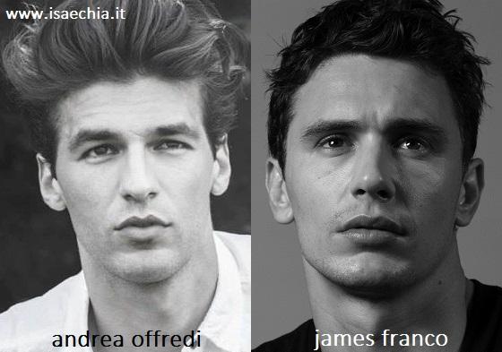 Somiglianza tra Andrea Offredi e James Franco