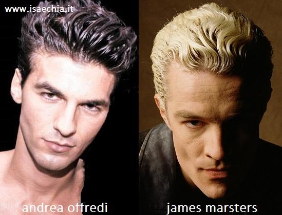 Somiglianza tra Andrea Offredi e James Marsters