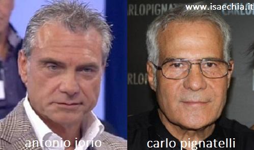 Somiglianza tra Antonio Jorio e Carlo Pignatelli