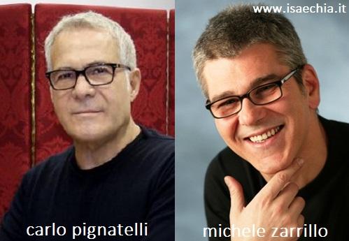 Somiglianza tra Carlo Pignatelli e Michele Zarrillo