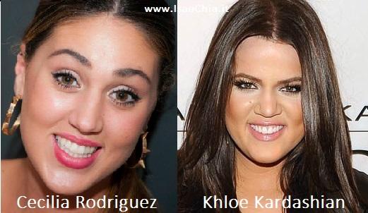 Somiglianza tra Cecilia Rodriguez e Khloe Kardashian
