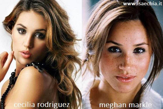 Somiglianza tra Cecilia Rodriguez e Meghan Markle